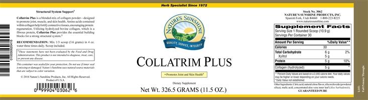 Nature S Sunshine Collatrim Plus